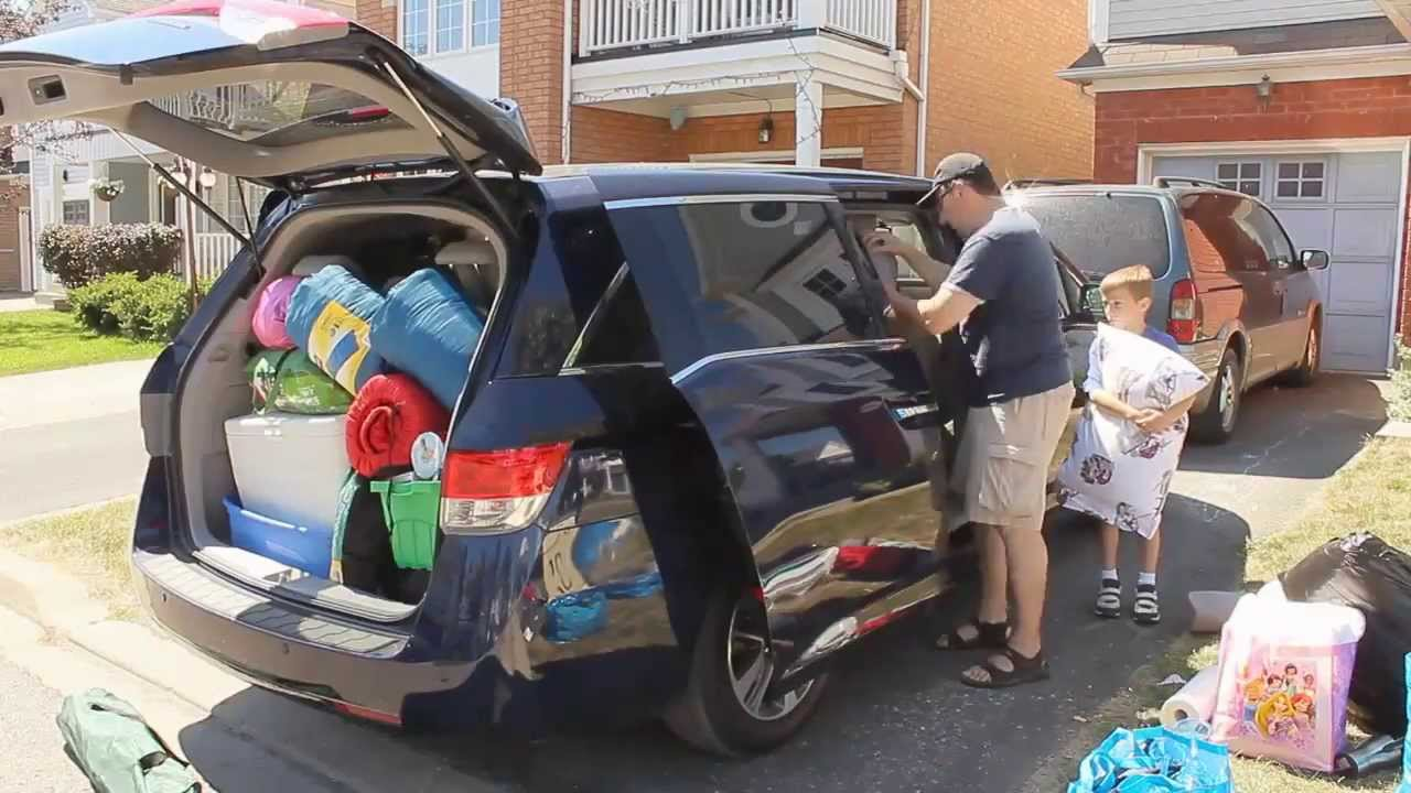 Honda Odyssey Camper >> TEST DRIVE - The 2014 Honda Odyssey Touring Goes Camping - YouTube