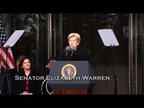 Sen. Elizabeth Warren speaks at Kennedy Institute Dedication