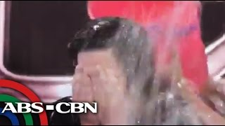 The Buzz: Kris does ice bucket challenge live on 'The Buzz'
