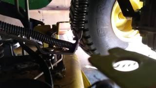 John Deere LT180 42 Deck Belt Removal