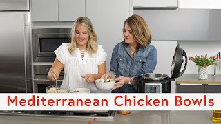 Pressure Cooker Mediterranean Chicken Bowls with Mealthy Multipot