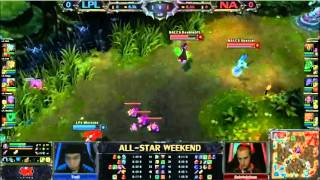 North America LCS Team vs China LPL Team Game 1 - League of Legends All Stars