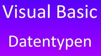 Visual Basic [6] - Datentypen und Typumwandlung