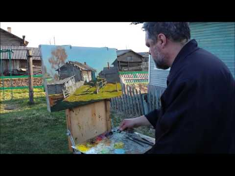 Владимир Пентюх заслуженный художник России  на этюдах
