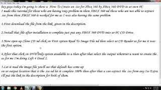Xbox 360 Tutorial How to Create an iso from Xbox 360 DVD