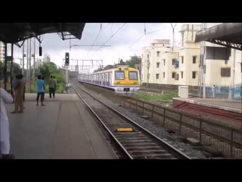 Old & New Fast Express Western Railway Trains Passing Santacruz Station and Malad Station in Mumbai,