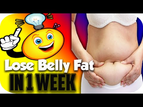 How to Lose Belly Fat in a Week: How to Lose Weight Fast