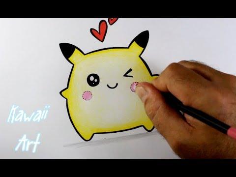 Como Desenhar Pikachu Kawaii Passo A Passo