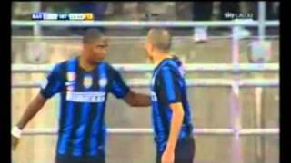 gol Kharja inter - bari 1 - 0 03/02/11