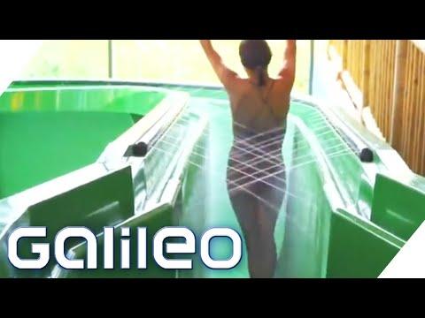 Die erste Stehwasserrutsche der Welt | Galileo | ProSieben