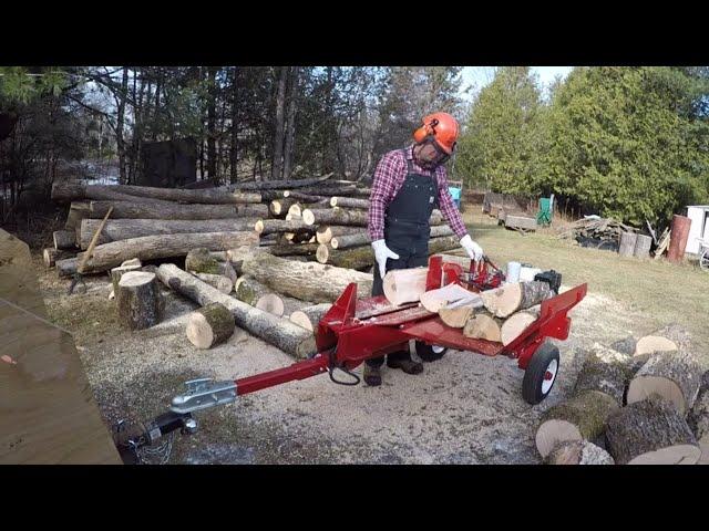 #225 The Split-Fire 3255 Log Splitter. One Serious Wood Splitter! outdoor channel.