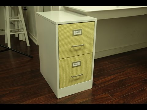 Updating A Metal File Cabinet