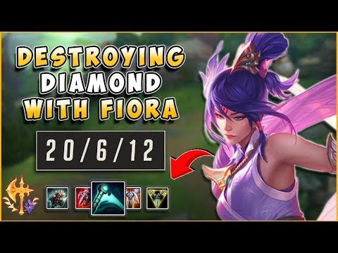 ULTIMATE 1V9 FIORA CARRY | DESTROYING DIAMOND - League of Legends thumbnail