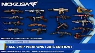 All VVIP Weapons Showcase! | CROSSFIRE 2.0