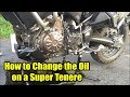Changing the Oil on the Yamaha Super Tenere