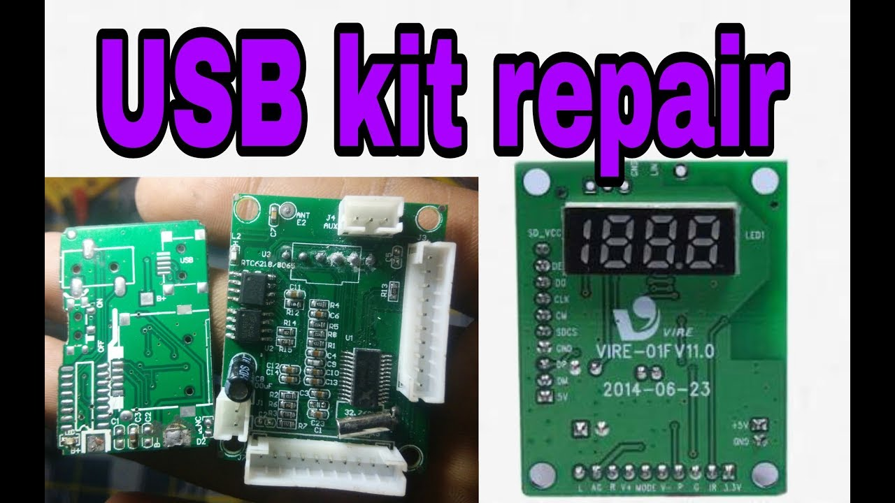 How To Repair A Usb Kit Simple And Very Easy Tricks Tips Circuit Board Buy Receiver Boardfm 100 Working Korba Rk Electronics Project