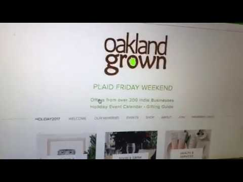 Shop Oakland 2017 Plaid Friday Weekend Nov 24-26