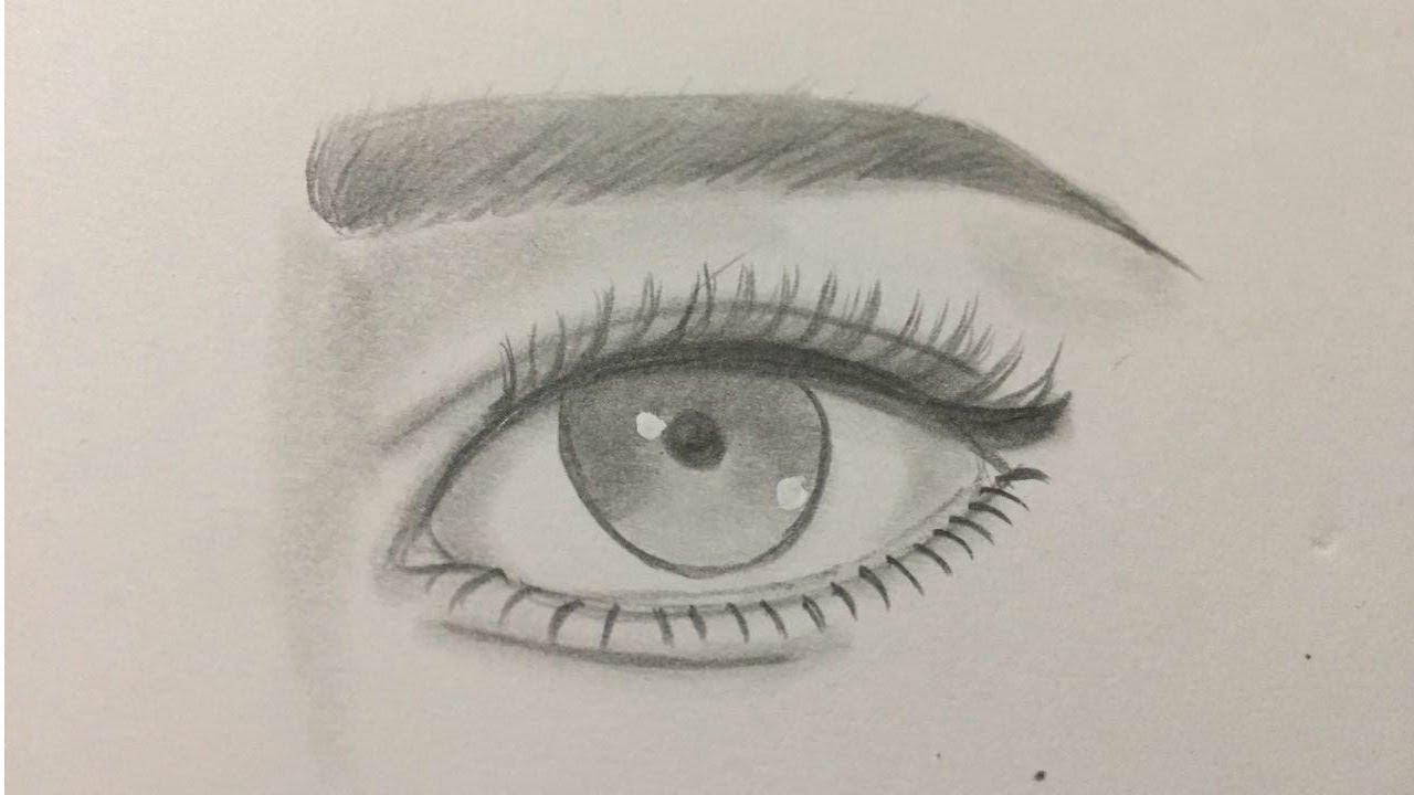 مدونة أرسم بالرصاص أرسم بالرصاص خطوات رسم العين والتظليل بطريقة سهلة