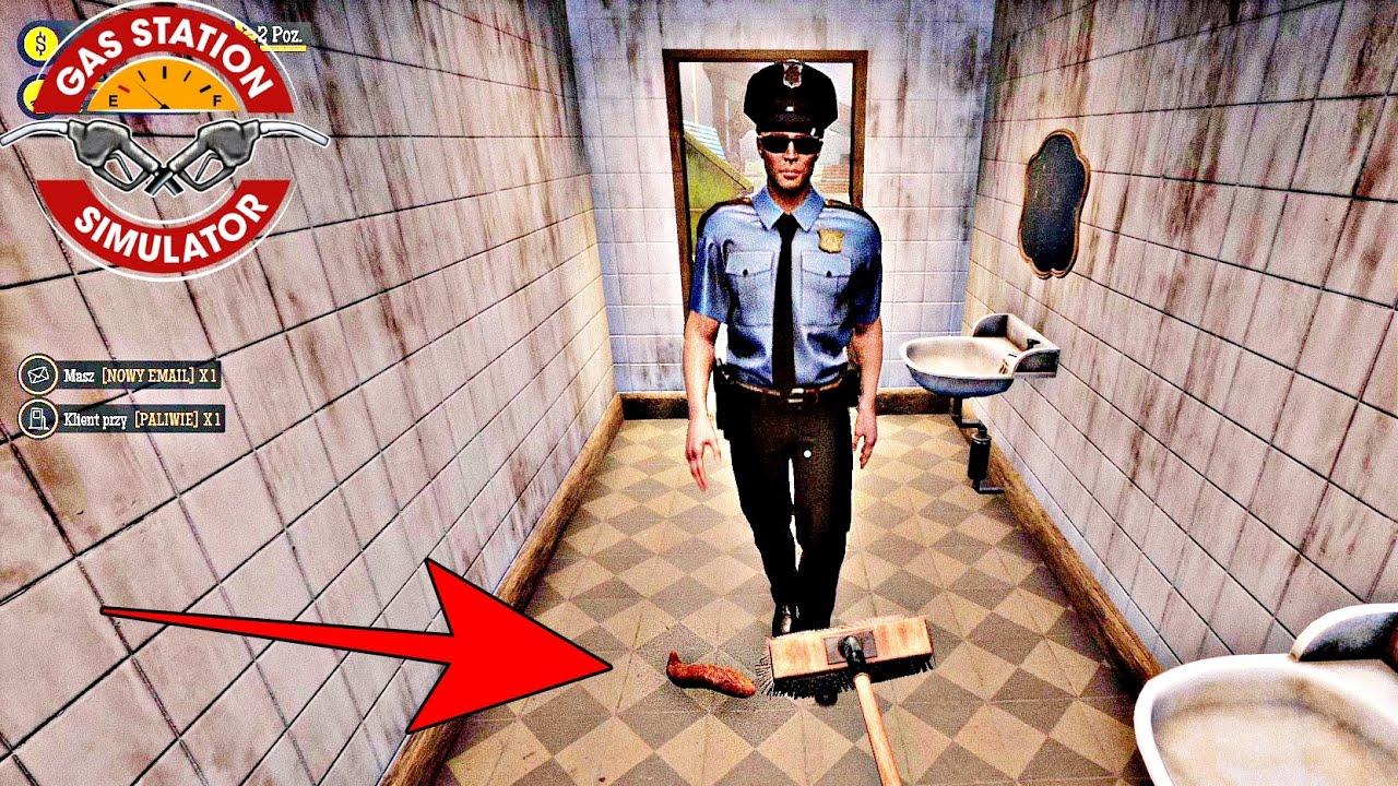 Policjant prawie wdepnął w ... - Gas Station Simulator PL #4