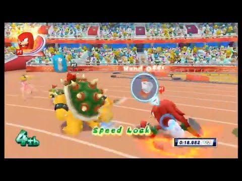 Mario & Sonic At The London 2012 Olympic Games Athletics - 4x100m Relay (All Characters)