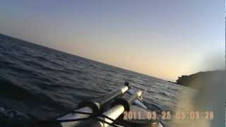 Trip around the greek islands,Oinousses,of Aegean sea with Perception sea kayak.