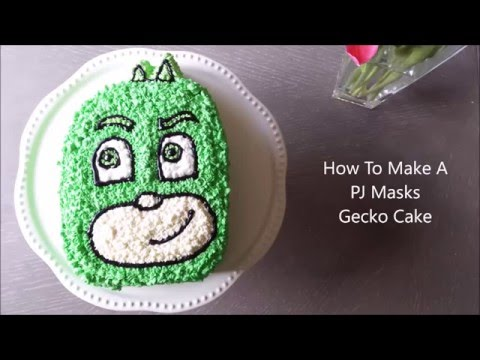 How to make a PJ Masks Gecko cake