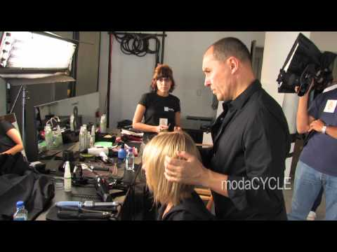 Yannick Dias Hair Stylist Interview at Adam Lippes Show