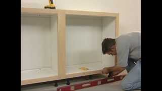 Installation Of Slide Lok Garage Cabinets