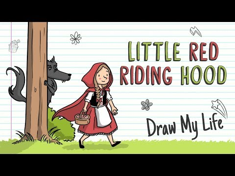 LITLLE RED RIDING HOOD | Draw My Life Fairy Tales