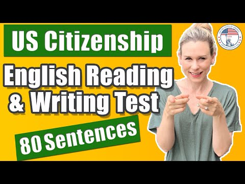 2020 US Citizenship English Reading And Writing Tests For Naturalization | 80 Official Sentences