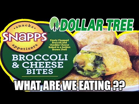 Dollar Tree CRUNCHY Broccoli & Cheese Bites! - WHAT ARE WE EATING?? - The Wolfe Pit