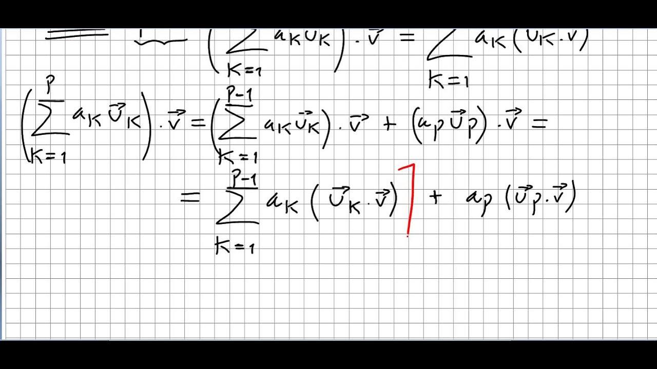 Linear Algebra 25, Dot Product as a Linear Operator 1