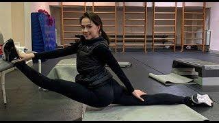 Алина Загитова показала как продвигаются ее тренировки