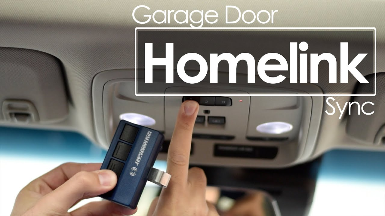Garage Door Opener Homelink Sync Tutorial Youtube