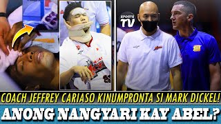 Coach Jeff KINOMPRONTA si Mark Dickel ng TNT! | Abel Galliguez Hard Fall update!