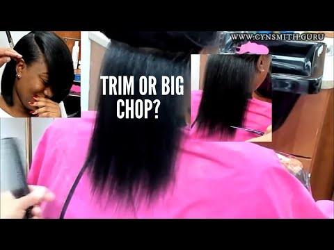 Blunt Bob Silk Wrap On Thick Hair