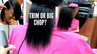 BLUNT BOB/ SILK WRAP ON THICK HAIR!!!