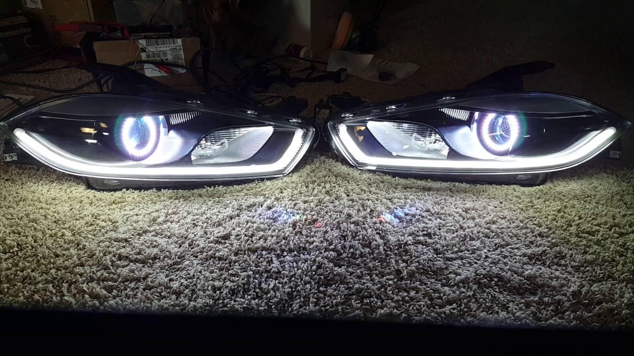 Pre-Assembled 2013-2015 Dodge Dart Halo Headlights