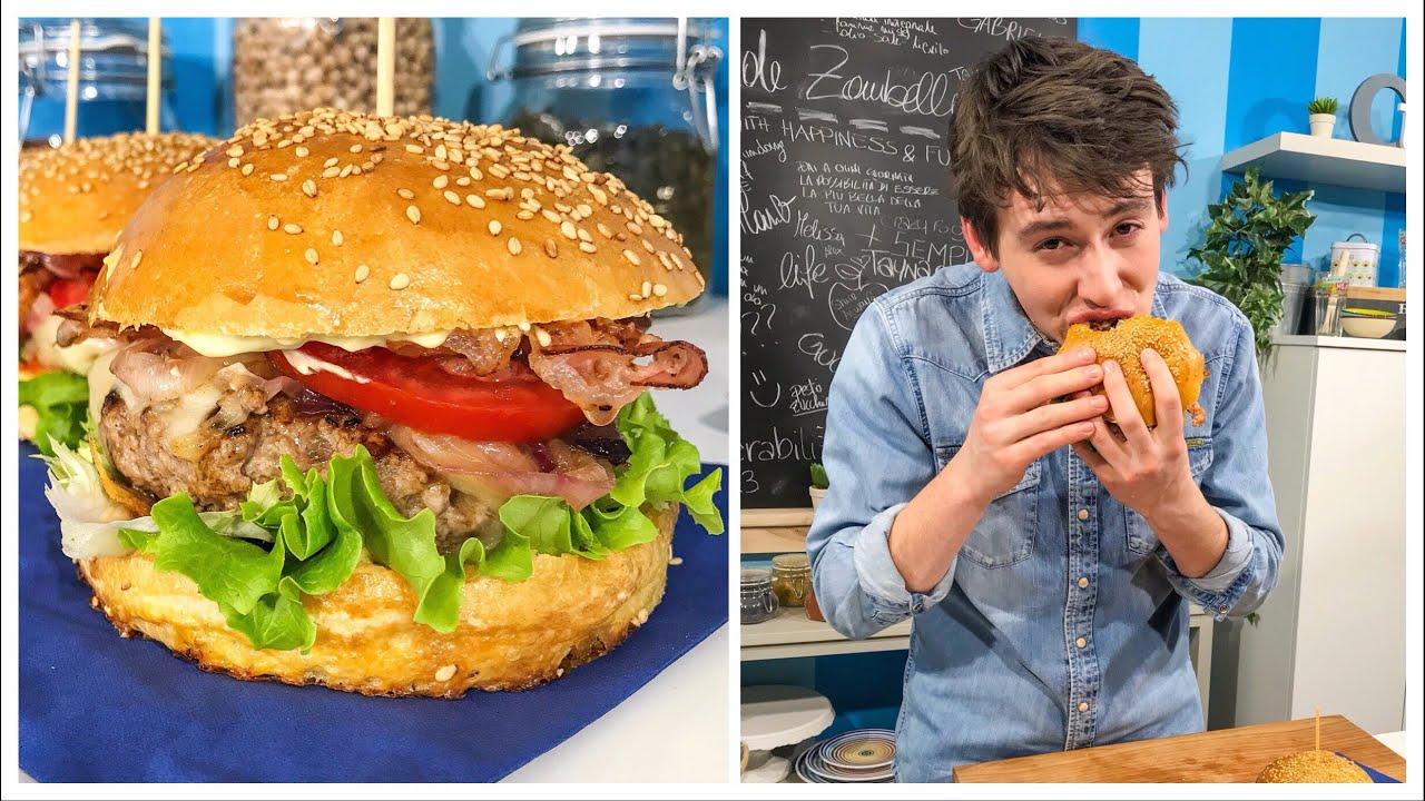 Youtube Ricetta Hamburger.Ricetta Hamburger Fatti In Casa Panini Inclusi Burger Buns Homemade Hamburger Davide Zambelli Youtube