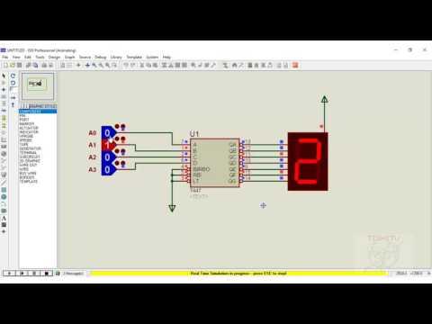 Seven Segment Display Working with 7447 decoder