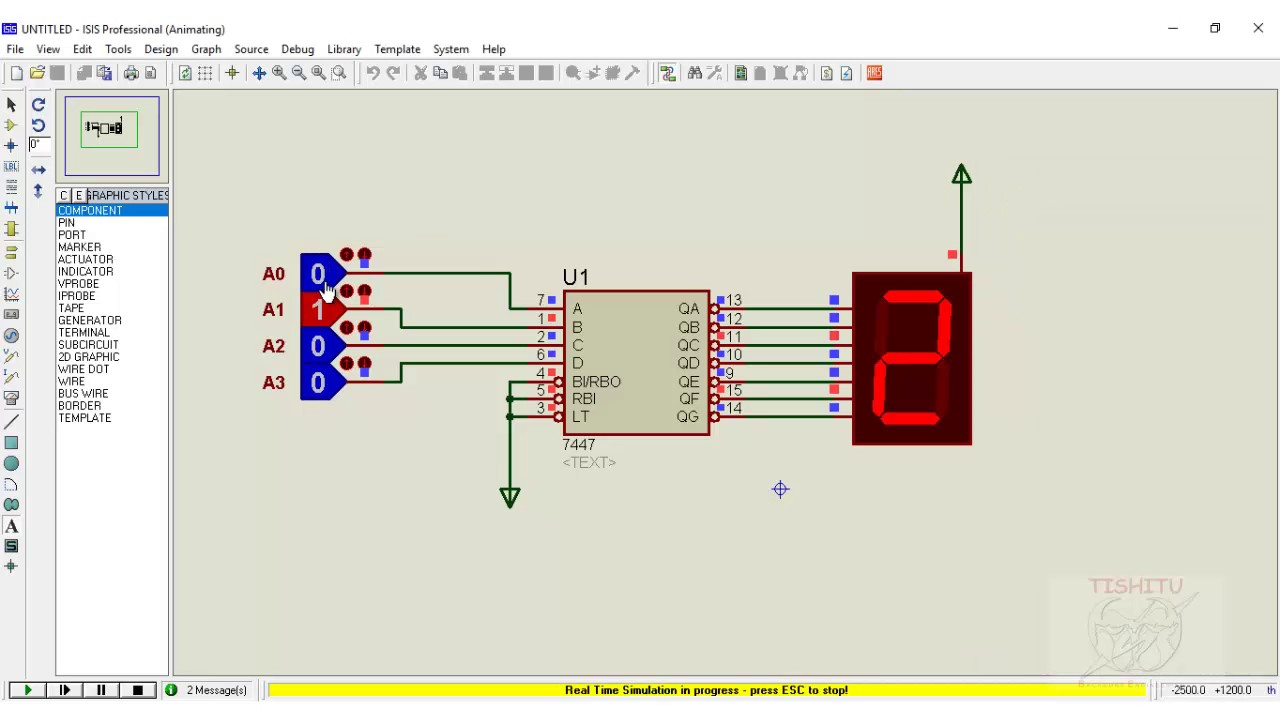 Clock Circuit Diagram Starting Know About Wiring Chevy Seven Segment Display 7447 Decoder Youtube Lm8560 Electronic