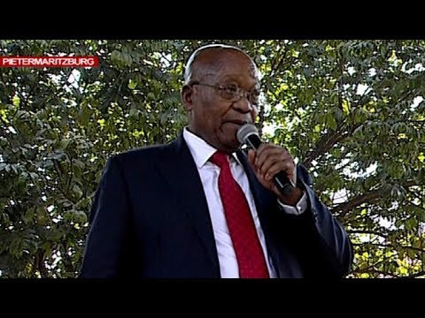 Former State Pres Zuma addresses supporters outside Pmb High Court