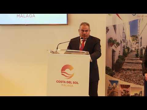 Presentación de Frigiliana en Fitur 2019. Habla el alcalde, Alejandro Herrero