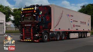 Ets2  Scania Andreas Schubert V2.2 + Cabin & Flag Dlc Ready