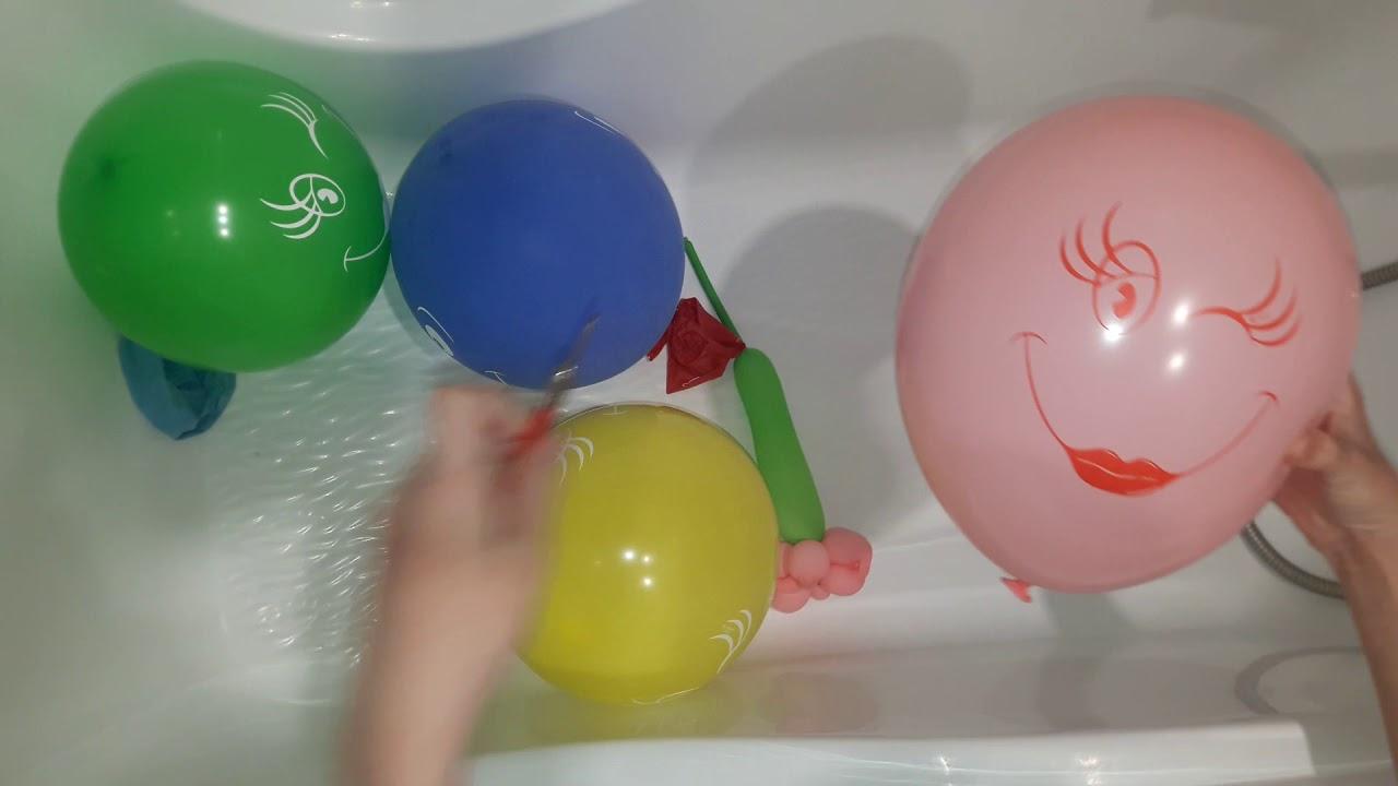 Развивающее видео Для детей Учим цвета Лопаем воздушные ...