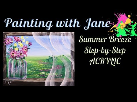 Summer Breeze Step by Step Acrylic Painting on Canvas for Beginners
