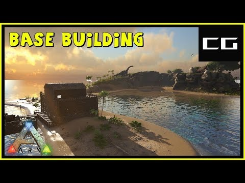 Base Building And Our First Dinos - Complete The Ark Ep #2