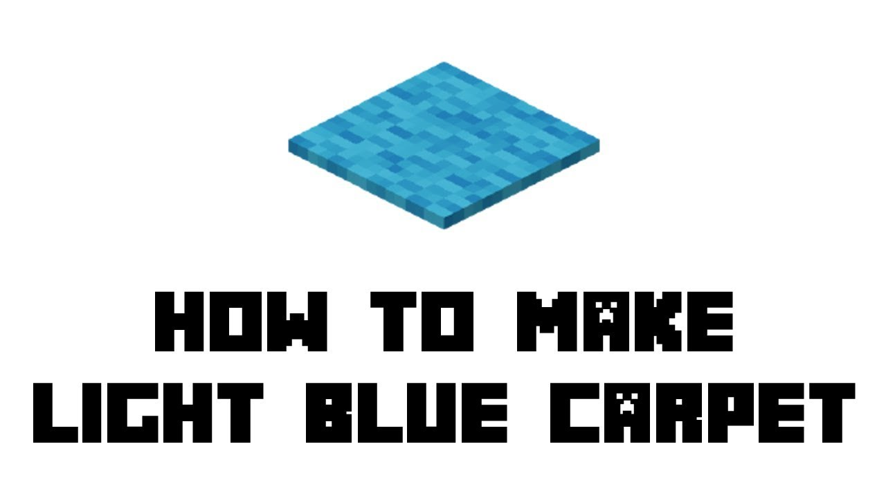 Minecraft Survival How To Make Light Blue Carpet Youtube