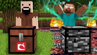 СУНДУК ХЕРОБРИНА ПРОТИВ СУНДУК НОТЧА В МАЙНКРАФТ 100% Троллинг Ловушка Minecraft