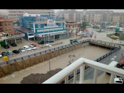 Severe Flooding In Duquesa port, Malaga 2016